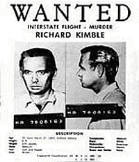 Wanted poster from THE FUGITIVE