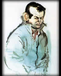 Ronald Searle caricature of Janssen from TV Guide